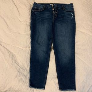 Rockstar Super Skinny High Rise Button Fly Jeans